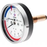 Термоманометр заднее подключение 259 0-6 ATM.0-120 C ICMA