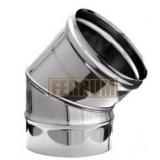 Ф110 Колено (нерж. сталь0,5мм) угол 45*