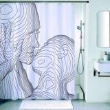 Штора д/в комнаты IDDIS,200*200см. полисэстер ,SCID150P , bleck&white