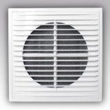 Решетка вентиляционная  150х150 приточно-вытяжная с фланцем D100 1515РС10Ф АБС