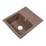 Мойка д/кухни квадр. из искус.камня RS56-46SW SAND 550*452 с крылом песок