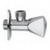 RR  Шар. кран угловой  проб.сал. 1/2 х1/2  хром 129