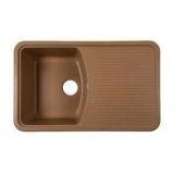 Мойка д/кухни квадр. из искус.камня RS76-47SW SAND 742*460 с крылом песок