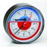 Термоманометр 1/2 ,6 бар,120гр. тыльное подкл.